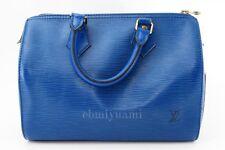 Authentic LOUIS VUITTON Speedy  EPI Blue Hand Bag Vintage TA4066-%