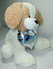 """2017 Animal Adventure 13"""" Plush Puppy Dog Silver Heart All You Need Is Love Eeuc"""