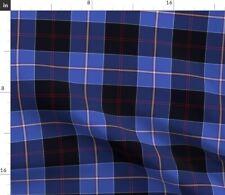 Dunlop Tartan Plaid Scottish Blue Fabric Printed by Spoonflower BTY