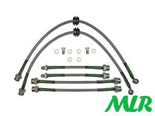 FORD FOCUS RS ST170 MK1 STAINLESS STEEL BRAIDED BRAKE LINES HOSES PIPES KIT UW