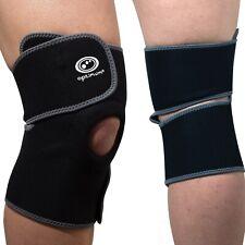 Adjustable Knee Wrap Support Brace Strap Neoprene Black