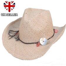 0e16fec0 NEW LADIES GIRLS STRAW COWBOY COWGIRL SUMMER SUN FESTIVAL HAT STETSON UK  SELLER