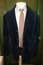 Polo Ralph Lauren Dark Blue Corduroy Surgeon Cuffs 3 Btn Size Medium