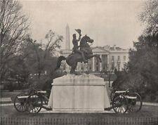 President Andrew Jackson statue (Mills), Lafayette Square, Washington DC 1895