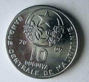 2009 MAURITANIA 10 OUGUIYE - AU - Rare Exotic African Coin - Lot #J13