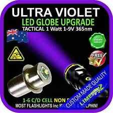 LED ULTRAVIOLET 1-9V CREE BULB GLOBE for MAGLITE DOLPHIN FLASHLIGHT TORCH 365nm