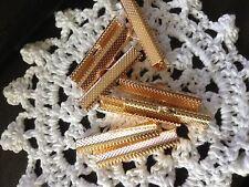 Rose Gold Necklace Ribbon Leather end Cord end 30mm End Crimp 10 Pack Aus seller