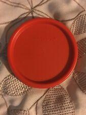 Tupperware 1607 Modular Mates Round Replacement Lid Seal Paprika Orange Red Rare