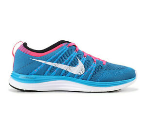 NIKE FLYKNIT ONE+ Running Trainers Gym Casual Shoes - UK Size 7 (EUR 41) - Blue