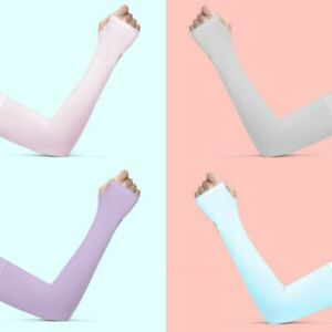 Pair Arm Sleeves Ice Silk for Summer Outdoors Sports Hand Cover UV Sun Protect