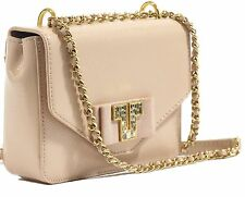 NWT TORY BURCH Kira Deco Mini Chain Shoulder Bag, Light Oak