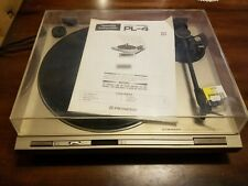 PL4 PL-4 Pioneer Turntable Record Player Direct Drive With Manual Work Vintage