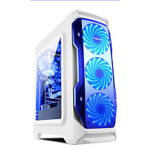 Segotep Halo ATX Mid Tower Computer Desktop Gaming PC Case 8 Fans Water Cooling