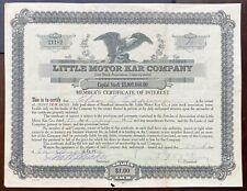 """LITTLE MOTOR KAR CO. Stock 1919 Grand Prairie, Texas. W.S. Livezey's """"Texmobile"""""""