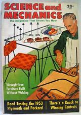SCIENCE AND MECHANICS MAGAZINE APRIL 1953 VINTAGE WROUGHT IRON FURNITURE