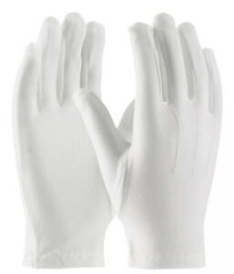 White Gloves 100% Cotton Men's size L Drumming Marching Band Santa Parade Mickey