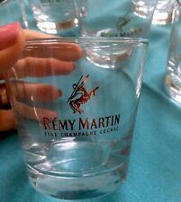"REMY MARTIN 6 FINE CHAMPAGNE COGNAC 3.25""  GLASSES  GOLD  LETTERING"