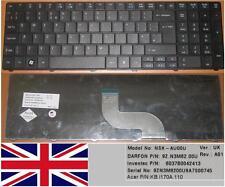 CLAVIER QWERTY UK ACER ASPIRE AS5741G M8571  NSK-AU00U 9Z.N3M82.00U KB.I170A.110