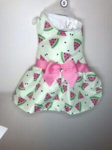 NEW SIMPLY WAG WATERMELON  SUMMER STRIPE GIRL PET DRESS Small
