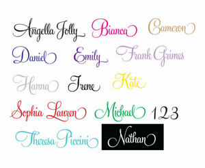 Custom Name Wall Door Sticker Personalized Removable Decal 100~1600mm