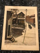 ICE GLARE BY CHARLES BURCHFIELD AMERICAN ART LITHOGRAPH VINTAGE PRINT