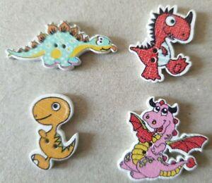 Button Packs - Uk FREEPOST - Dinosaurs - Teddy+ Lots More - Creative Activities