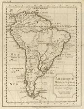 'Amerique Méridionale'. South America. BELLIN/SCHLEY 1772 old antique map