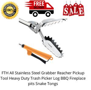 All Stainless Steel Scavengers Grabber Reacher Pickup Heavy Duty Scavengers