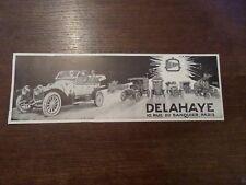 Publicité ancienne 1913 automobile Delahaye Pub 28.5 x 9 advert old car auto