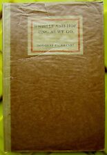 1918 Whitsle and Hoe Sing as We Go Boxed Edition- Douglas Fairbanks - 1st Ed!