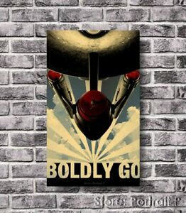 Star Trek Oil Painting Boldly Go Hand-Painted Art Canvas Huge Size 30x54