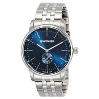 Wenger Men's Watch Urban Classic Blue Dial Silver Tone Bracelet 01.1741.107