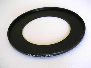STEP UP ADAPTER 72MM-105MM STEPPING RING 72MM TO 105MM 72-105 FILTER ADAPTER