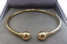 Ladies 9ct Gold Hollow Torque Bangle  3.9 grams
