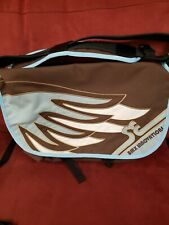 Se Bikes Blue/ Brown Canvas/Laptop Messenger Bag RARE.