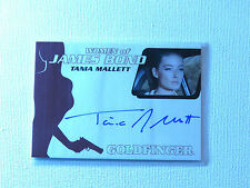 JAMES BOND ARCHIVES 2014 WA45 Tania Mallett as Tilly Masterson AUTOGRAPH CARD