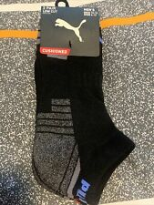 Puma 3 Pair Low Cut Cushioned Mens Socks Size 10-13