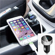 DC 5V 3.1A 2 Ports Adapter Car Charger Voltage Tester for iPhone Samsung Silver
