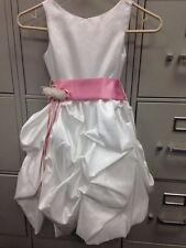 Beautiful Joy kids Girls Size 6 White Taffeta Bubble Dress, Great Condition!