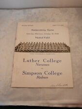 LUTHER vs. SIMPSON COLLEGE'S OFFICIAL PROGRAM SGA HOMECOMING GAME 10-18,1958