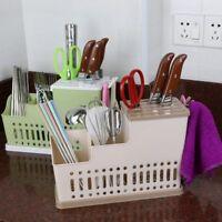 Kitchen Spoon Chopsticks Fork Draining Rack Storage Holder Organizer UK Stock
