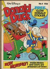 DONALD DUCK #4 - FREE GLOW DONALD STICKER - 1988 (VF) WH