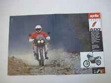 advertising Pubblicità 1988 MOTO APRILIA TUAREG 600