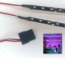 PURPLE MODDING PC CASE LIGHT LED KIT (TWIN 20CM STRIPS) MOLEX 40CM TAILS