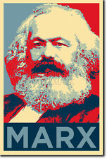 KARL MARX PHOTO PRINT POSTER GIFT 2 (OBAMA HOPE INSPIRED) SOCIALISM COMMUNISM