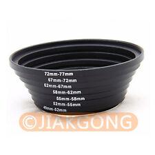 49-52-55-58-62-67-72-77 mm Step Up Rings SET 7pcs