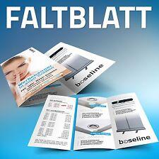 5000 Faltblätter A4 auf DIN lang drucken - Flyer Wickelfalz Falzflyer Prospekte