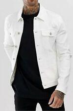 GUC D&G DOLCE & GABBANA men's classic oversized denim jacket in off white sz Lrg
