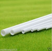 5-10 pcs ABS Styrene Plastic Round Tube Pipe Diameter 3mmX250mm White