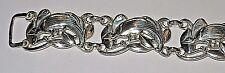 "Rare McClelland Barclay Peacock Bird Mint 7"" Long Sterling Silver Link Bracelet"